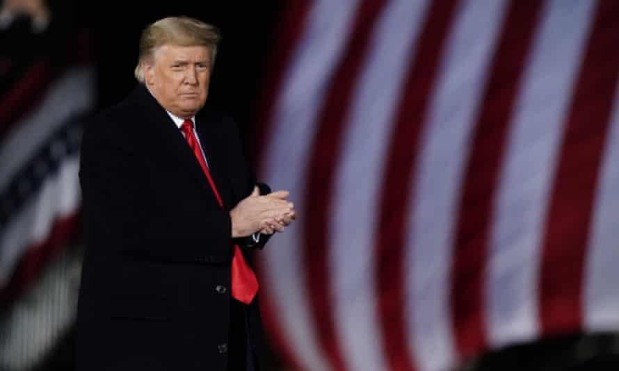 Donald Trump in Dalton, Georgia, on 4 January.