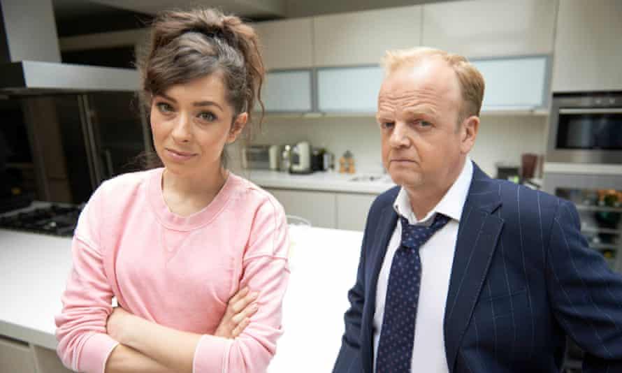 Zrinka Cvitešić as Matya and Toby Jones as Roger Yount in the BBC adaptation of <em>Capital.</em>