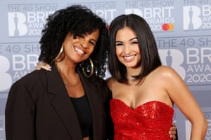 Mabel McVey, winner of the Brit award for female solo artist, with her mother, the singer Neneh Cherry who won two Brit awards 30 years ago.