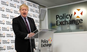 The foreign secretary, Boris Johnson, delivers a speech on Brexit at the Polixy Exchange in central London. REUTERS/Peter Nicholls