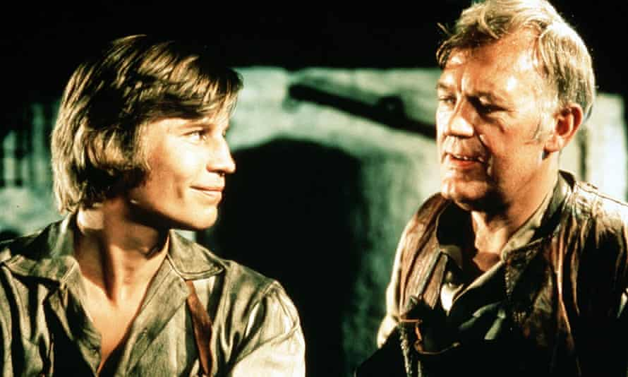 Pip (Michael York) with Joe Gargery (Joss Ackland) in the 1974 TV version of Great Expectations.