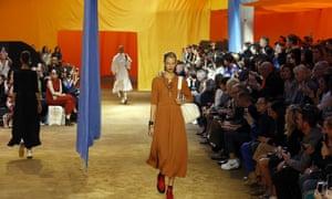 Céline's spring/summer show at Paris fashion week.