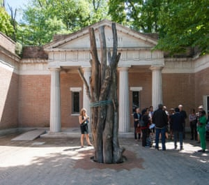 No shows? The American pavilion at the Venice Biennale, before the 2017 edition kicked off.