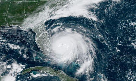 "US-WEATHER-HURRICANE<br>This satellite image obtained from NOAA/RAMMB, shows Tropical Storm Dorian as it approaches the Bahamas at 15:30 UTC on September 2, 2019. - Hurricane Dorian battered the Bahamas with ferocious wind and rain on Sunday, the monstrous Category 5 storm wrecking towns and homes as it churned on an uncertain path toward the US coast where hundreds of thousands were ordered to evacuate. Packing sustained winds of 165 miles per hour (270 kph) with a towering 18 to 23 foot (5 to 7 metre) storm surge, Dorian crashed over the Abacos Islands, in the northwest Bahamas, as the strongest storm ever to hit the Caribbean chain. (Photo by NOAA / NOAA/RAMMB / AFP) / RESTRICTED TO EDITORIAL USE - MANDATORY CREDIT ""AFP PHOTO / NOAA/RAMMB/HANDOUT"" - NO MARKETING - NO ADVERTISING CAMPAIGNS - DISTRIBUTED AS A SERVICE TO CLIENTSNOAA/AFP/Getty Images"
