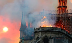 The Notre Dame fire on 15 April 2019