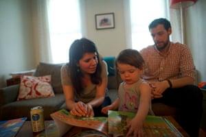 Tony Spagnoli with his family.