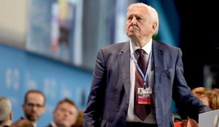 David Attenborough at the COP24 climate change summit, Katowice, Poland - 03 Dec 2018