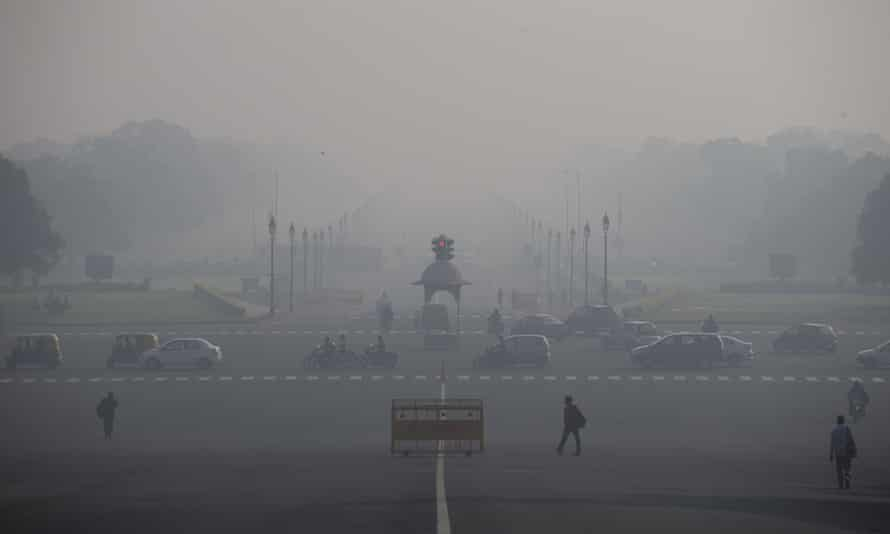 Pollution in New Delhi, India, last November
