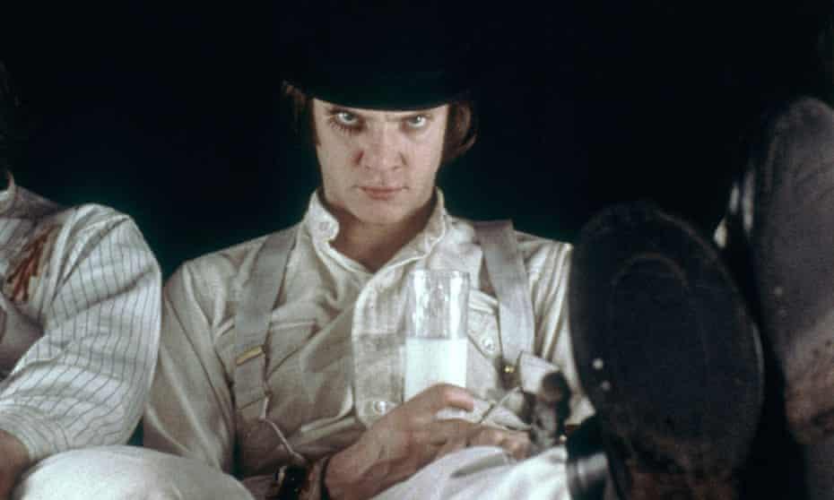 McDowell in A Clockwork Orange, 1971.