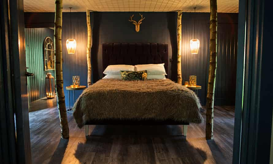 Bedroom at North Star Club, Yorkshire Wolds