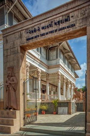 The Iranshah fire temple in Udvada, Gujarat.