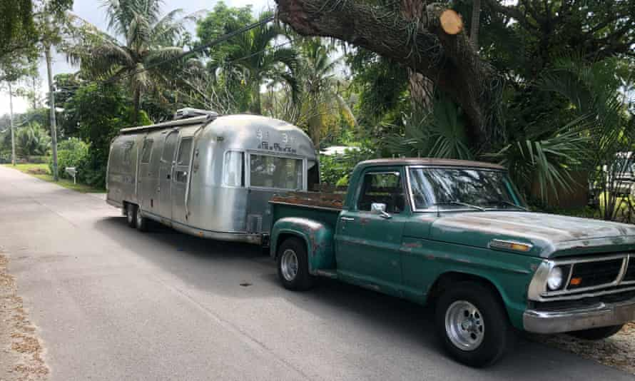 Old Airstream, as found by Nick, in Florida.