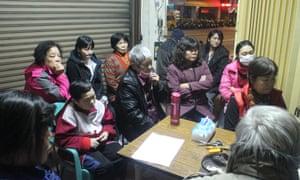 A Daguan Anti-Eviction Movement meeting.