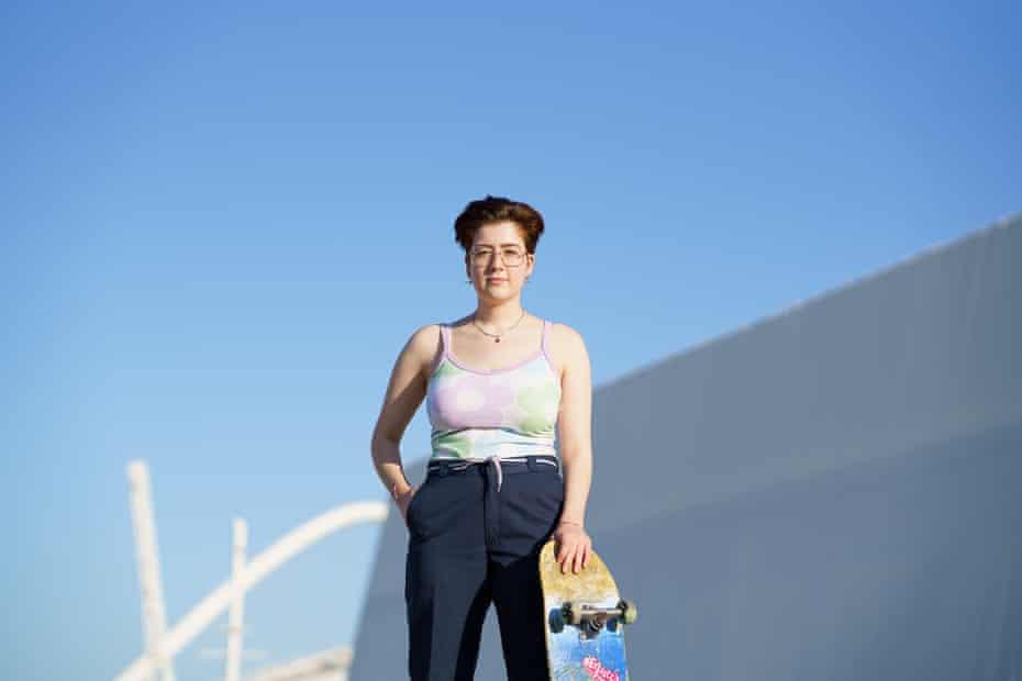 Queer skateboarder and photographer Virginia Kritikaki
