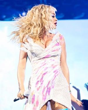 High-octane ... Rita Ora.