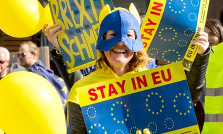 A pro-EU rally in Birmingham last year. 15,000 are expected to participate in the rallies across Europe on Sunday.