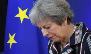 Theresa May at European council meeting in Brussels
