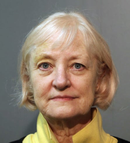 Marilyn Hartman after an arrest in Chicago.