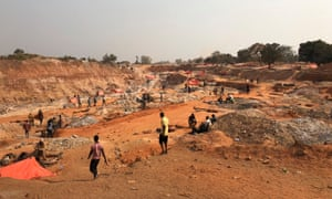 Cobalt mining site near Kasulo