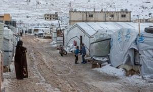 A general view of an informal refugee settlement in Arsal, Lebanon.