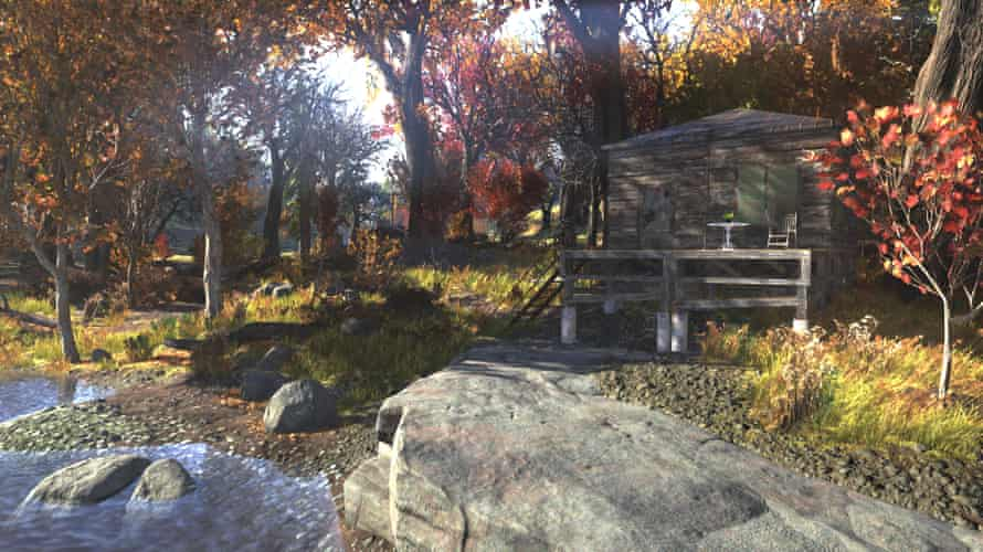 A homestead shack in Fallout 76.