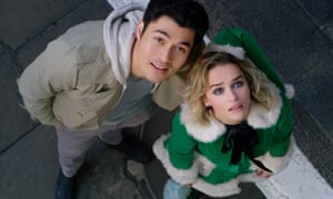 Last Christmas, I gave you my heart ... Henry Golding and Emilia Clarke in Last Christmas.