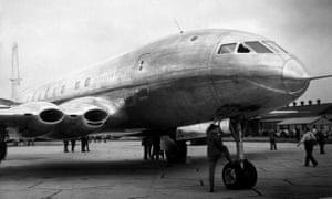 The De Havilland 106 Comet, a jet-propelled air liner, in 1949.
