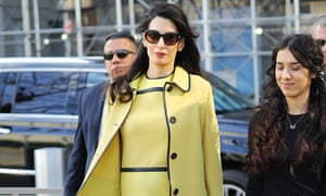 Amal Clooney in New York City on 9 March