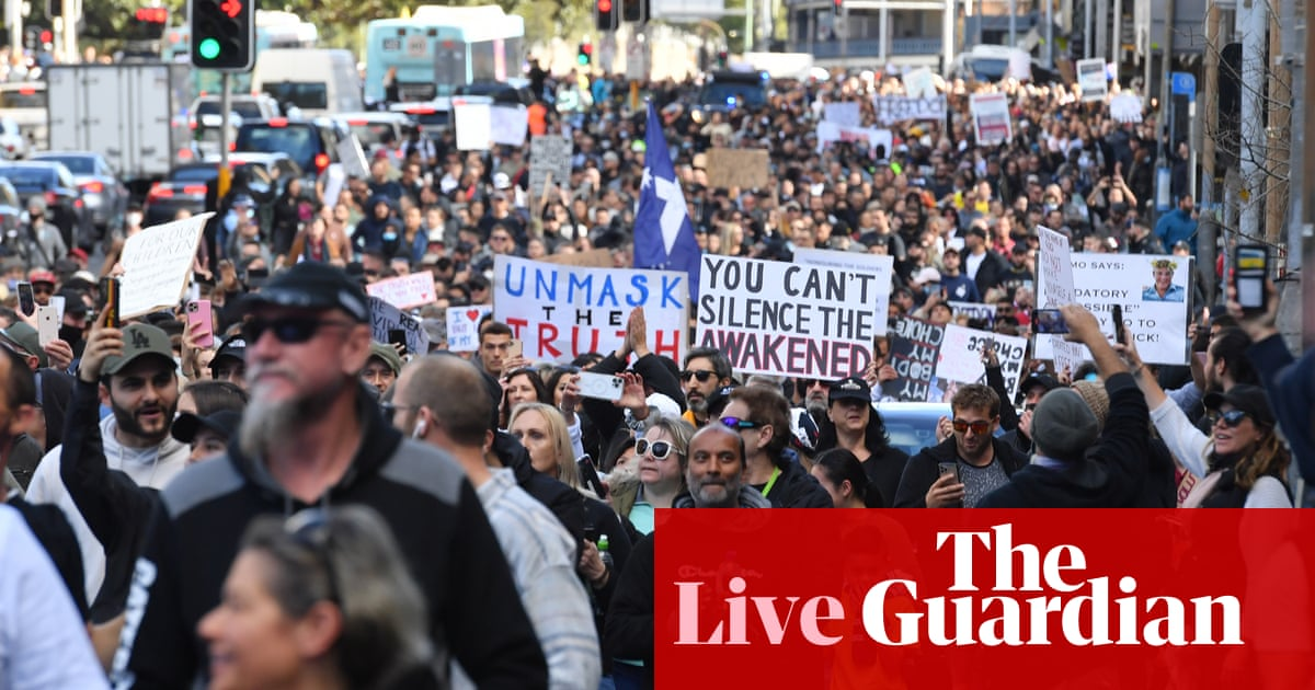 Australia Covid news live: Victoria records 11 new cases, men charged with allegedly striking horse at anti-lockdown protest