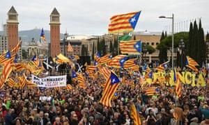 Catalan independence demonstrators