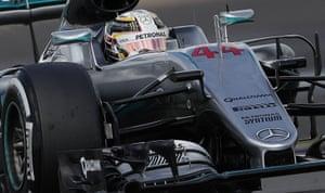 Hamilton still in control at the front.
