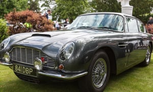 The Aston Martin DB5 sold at the world's biggest classic car auction in California.
