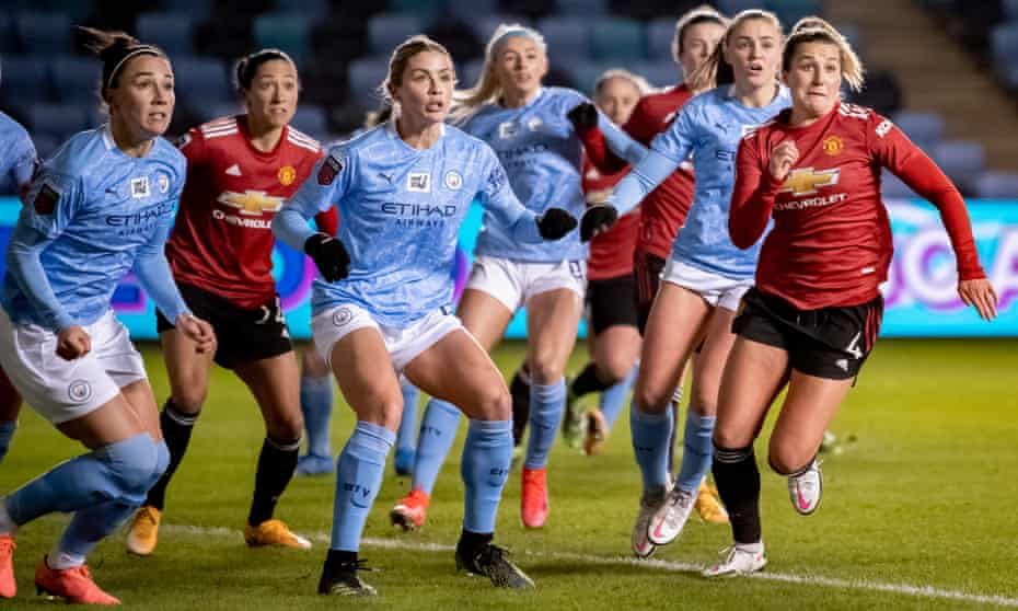 Manchester City take on Manchester United in the Women's Super League in February.