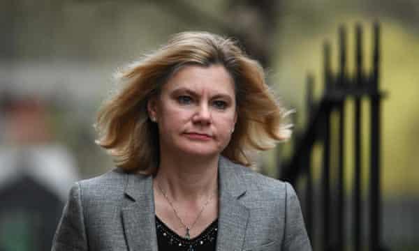 Former education secretary Justine Greening