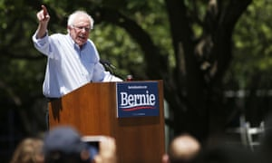 Bernie Sanders speaks during a rally in Fort Worth, Texas on Thursday.
