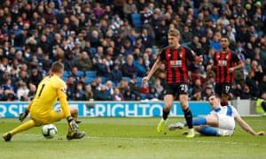 Bournemouth's David Brooks scores their third goal.