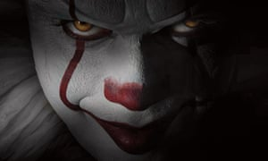 Pennywise the clown, star of Stephen King's novel It, played by Bill Skarsgård.