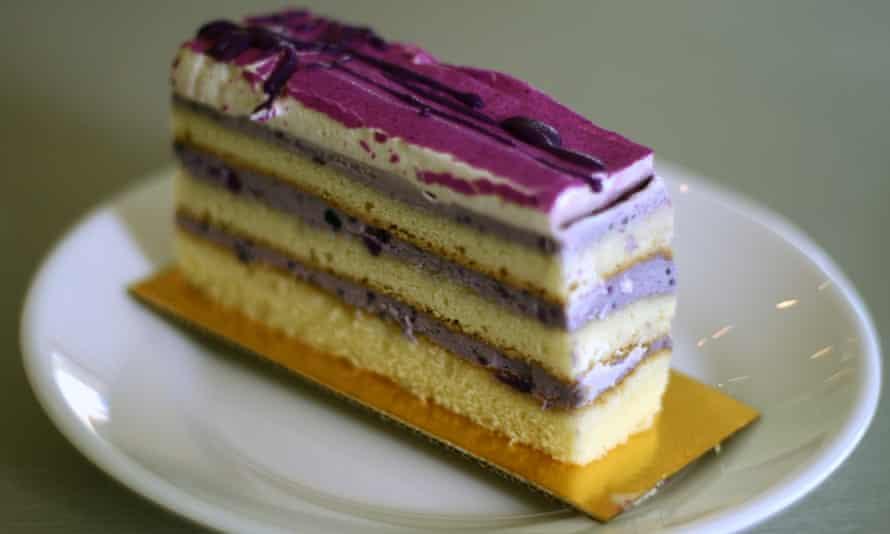 Ube cream slice.