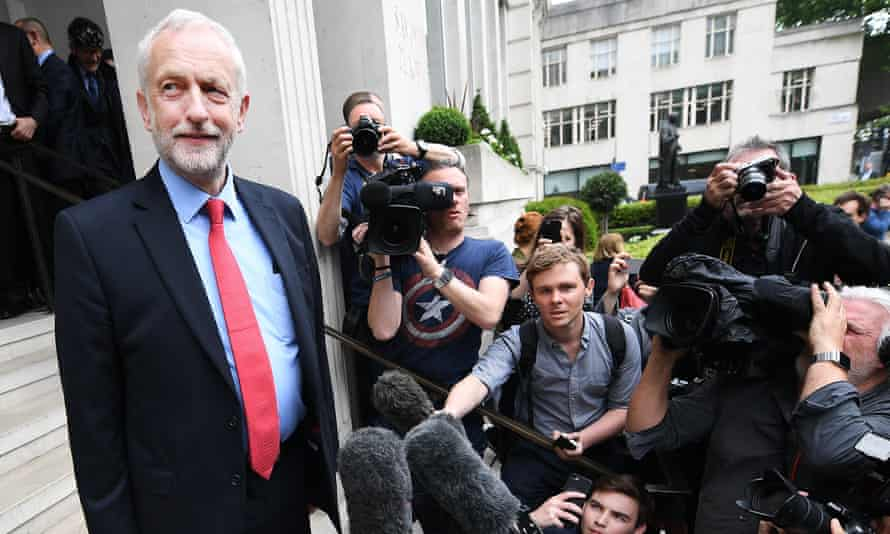 Jeremy Corbyn addresses the media in London on  11 May 2017