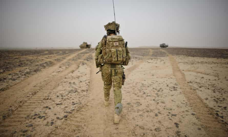 A British army officer in Helmand province, Afghanistan, in 2012