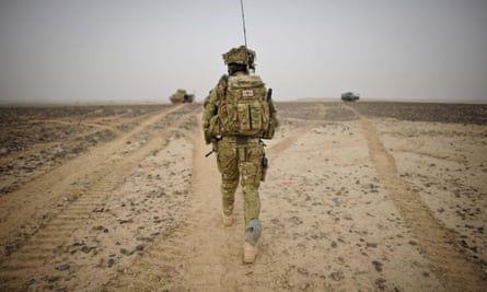 A British Army officer in Helmand province, Afghanistan. It has been five years since UK operations ceased in the country.