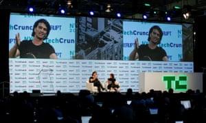 Adam Neumann at the TechCrunch Disrupt event in Manhattan, May 2017.