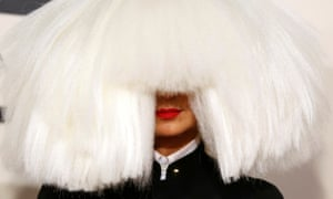 Reluctant star… Sia Furler at the 2015 Grammy awards.