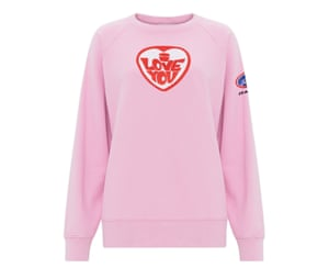 I Love You sweatshirt, £210, bellafreud.com