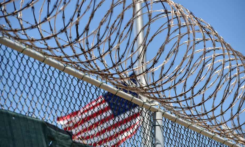 Razor wire-topped fence at Guantánamo Bay