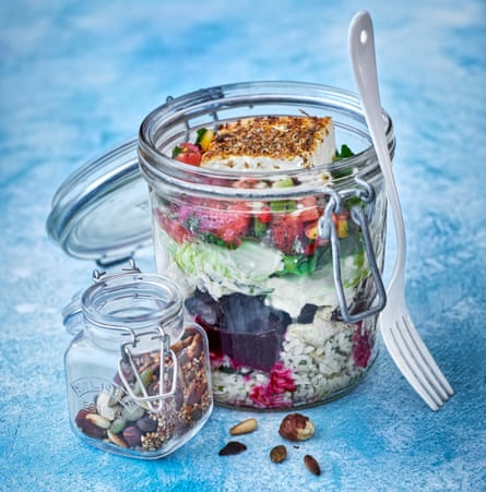 Caroline McGivern's layered lunchboxes.