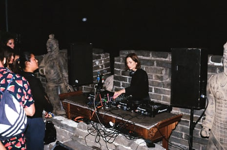 Nina Kraviz DJing on the Great Wall of China in 2018