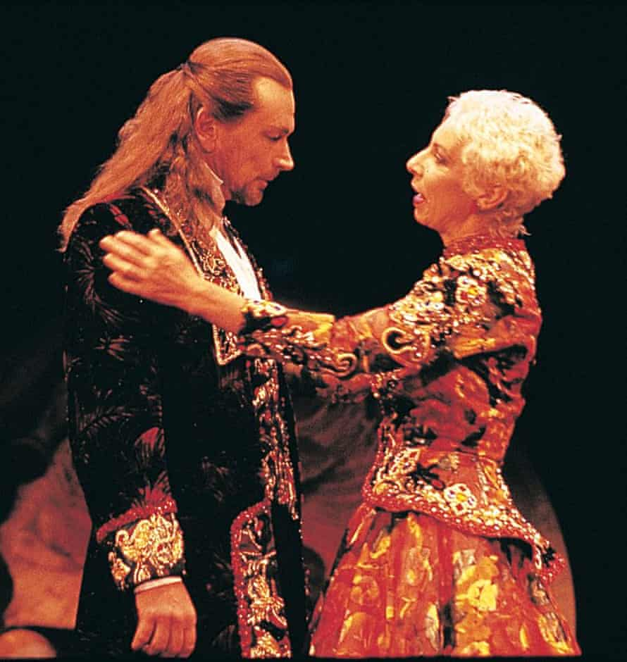 John Bell and wife Anna Volska in the 1994 production of Macbeth