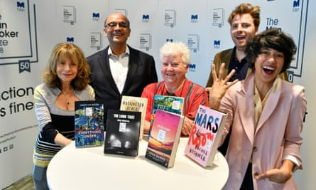 the Man Booker prize 2018 judges (from left) Jacqueline Rose, Kwame Anthony Appiah, Val McDermid, Leo Dobson and Leanne Shapton.