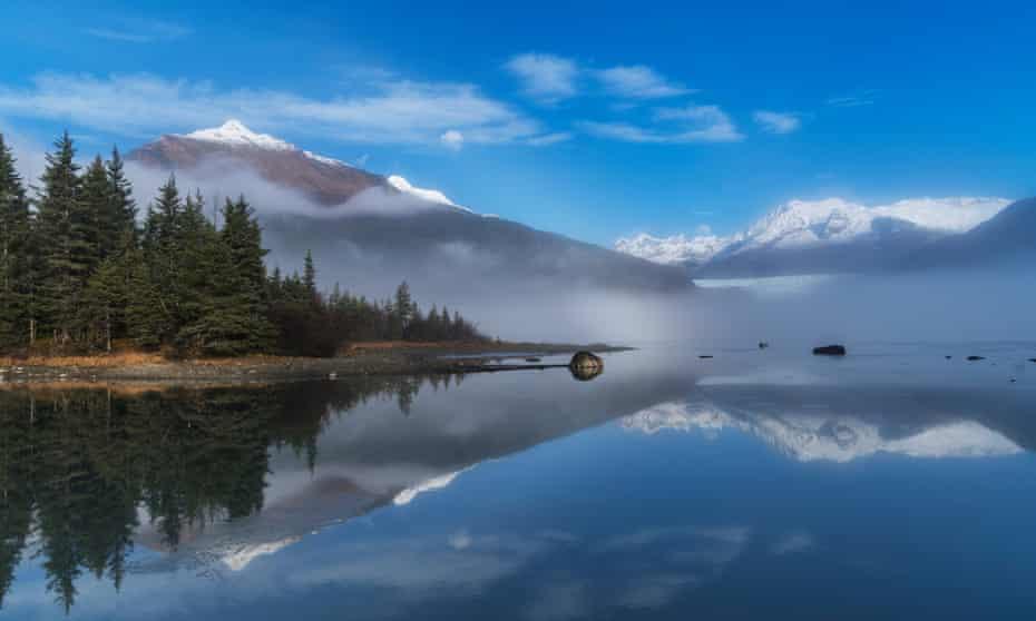 Mendenhall lake, near Juneau.
